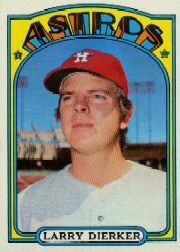 1972 Topps Baseball Cards      155     Larry Dierker
